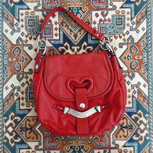 Vintage Juicy Couture leather red heart handbag